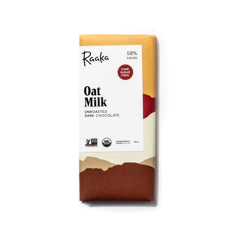 Raaka Chocolate 58% Oat Milk Chocolate Bar