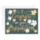 9th Letterpress Baptism Congrats
