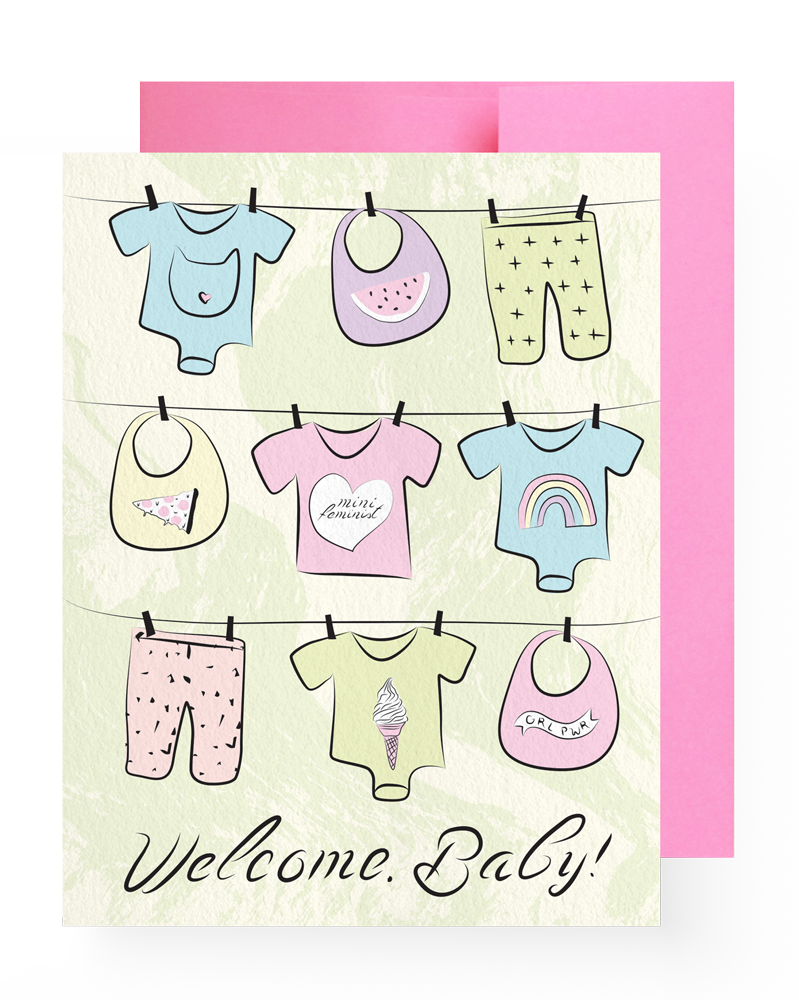 Boss Dotty Welcome, Baby Card