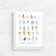 Nicole Marie Paperie Mythical Monsters Alphabet Print (8x10)