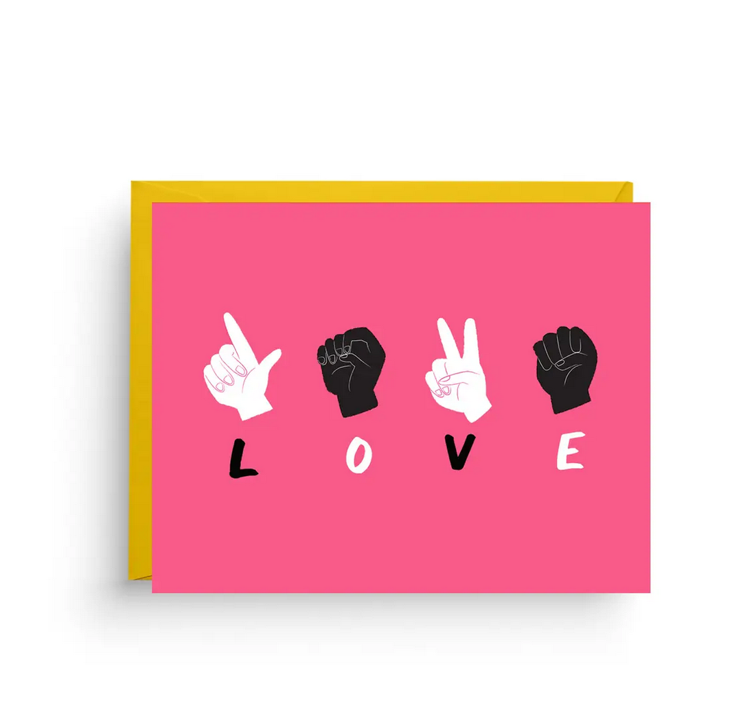Nicole Marie Paperie Black Lives Matter- Love Card