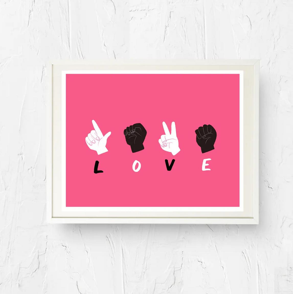 Nicole Marie Paperie Black Lives Matter Love Print (5x7)