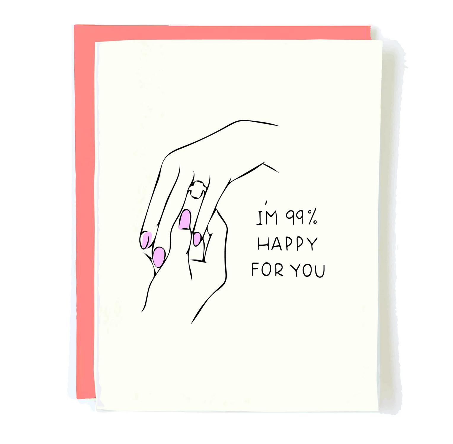 Pop + Paper 99% Happy Engagement Card