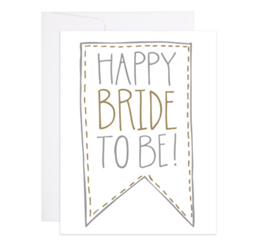 9th Letterpress Bride To Be