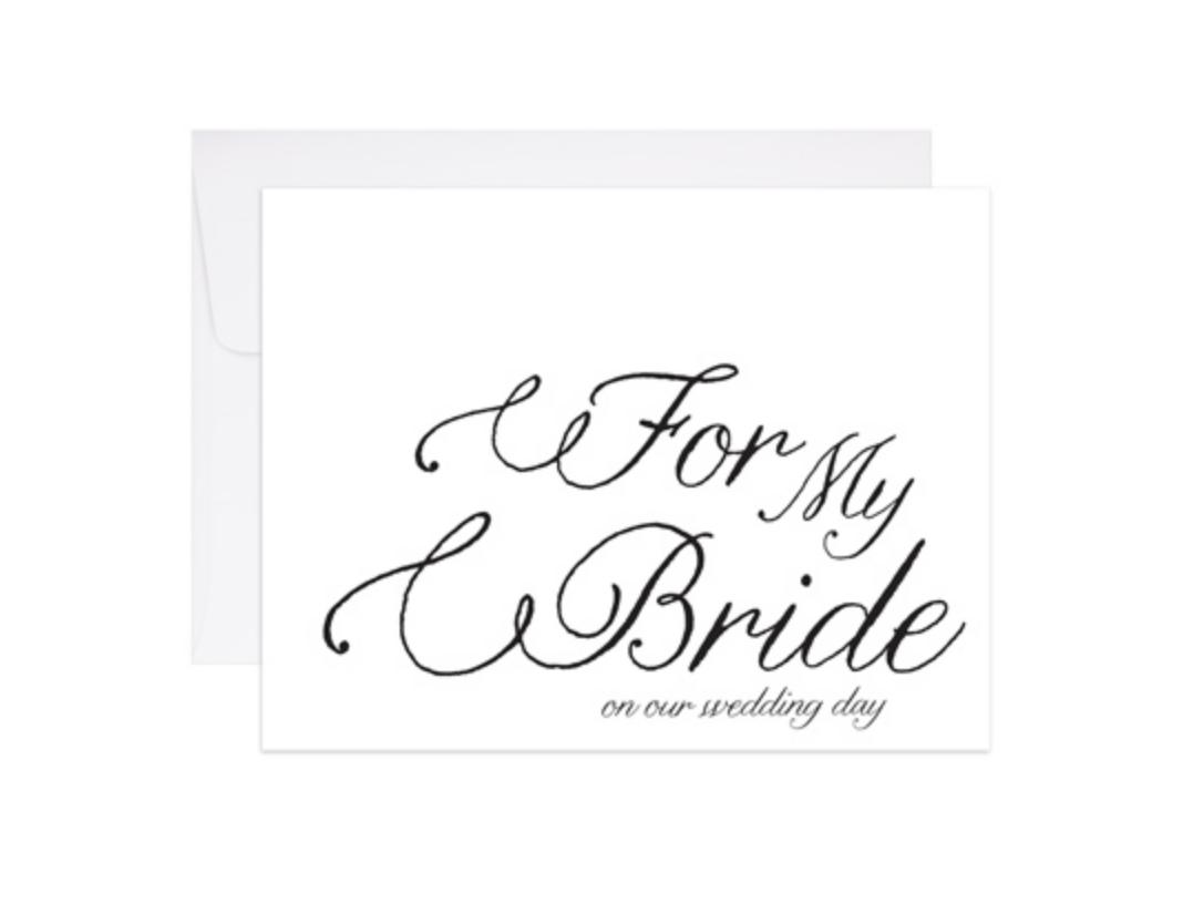 9th Letterpress For My Bride