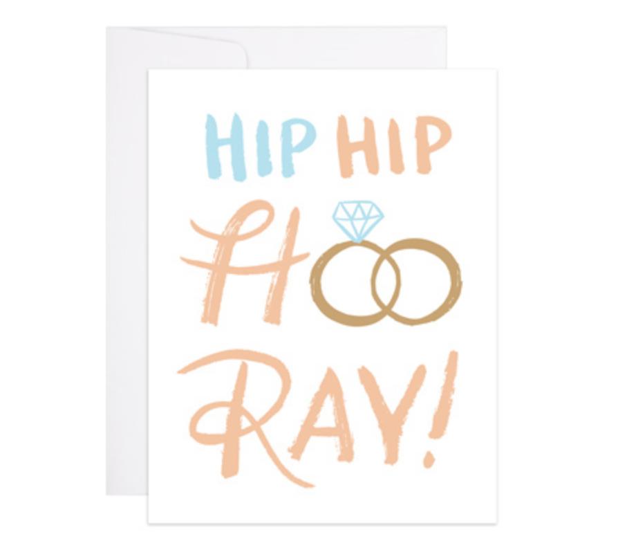 9th Letterpress Hip Hip Hooray Wedding