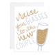 9th Letterpress Raise Your Glasses