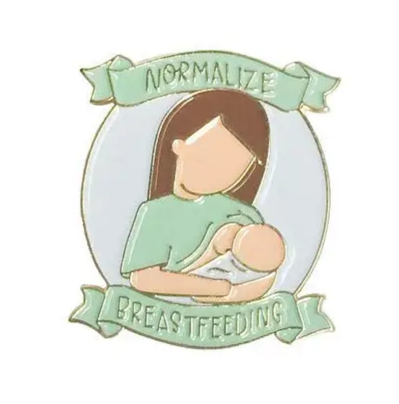 Little Lovelies Studio Normalize Breastfeeding in Vanilla Enamel Pin