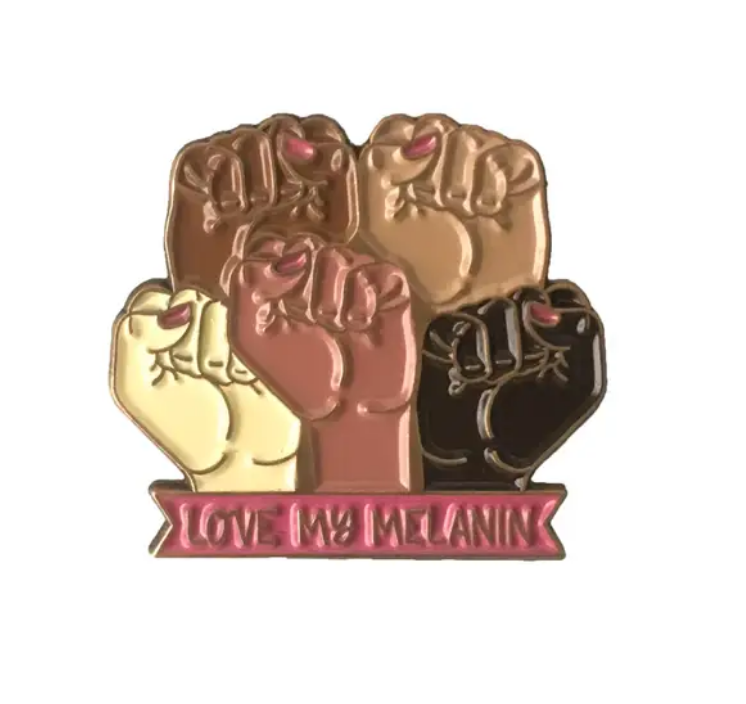 Little Lovelies Studio Love My Melanin Lapel Pin