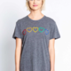 PJ Salvage S/S Tee Luv Rules- Charcoal