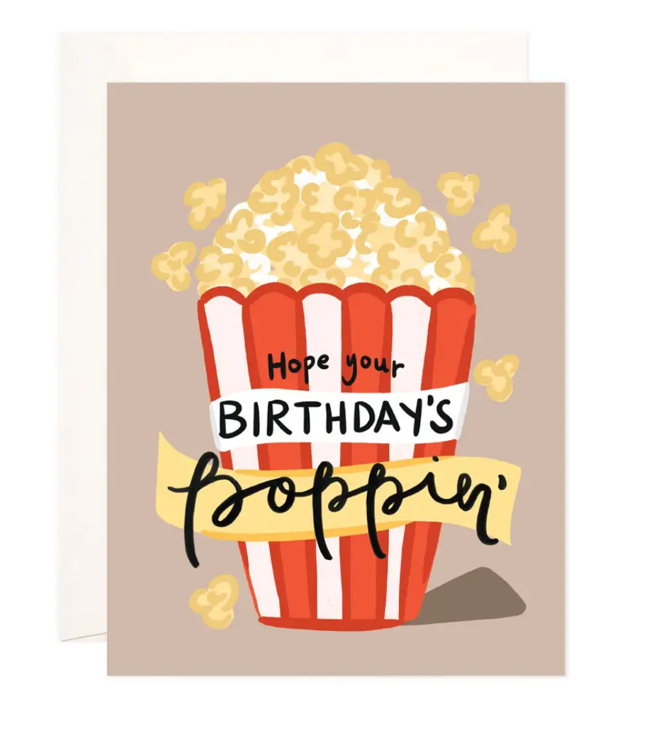 Bloomwolf Studio Poppin' Birthday Greeting Card