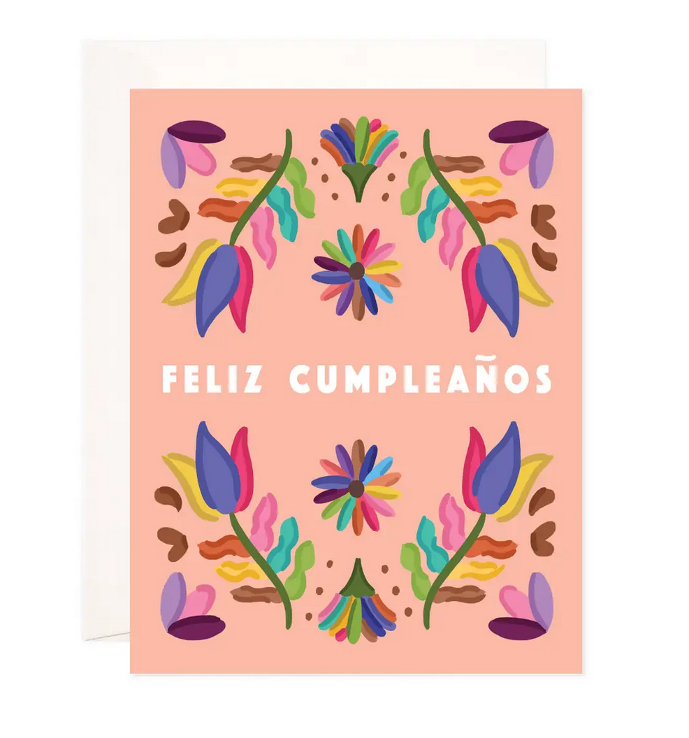 Bloomwolf Studio Folk Birthday Greeting Card