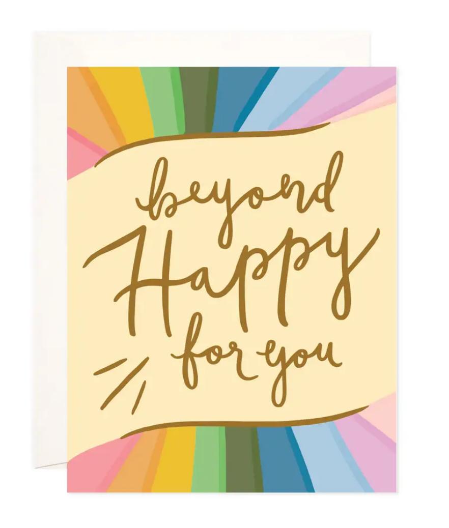 Bloomwolf Studio Beyond Happy Greeting Card