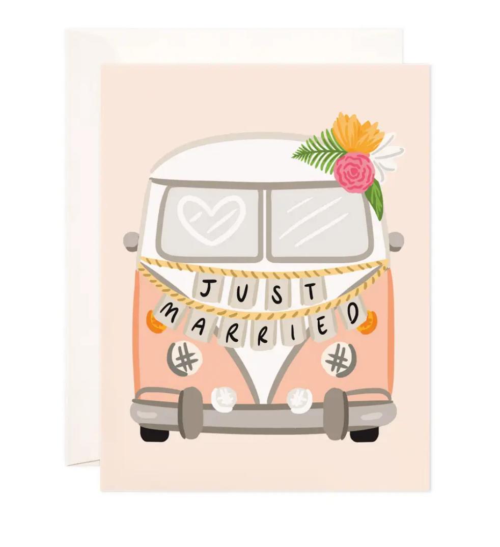 Bloomwolf Studio Getaway Van Greeting Card