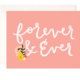 Bloomwolf Studio Forever & Ever Greeting Card