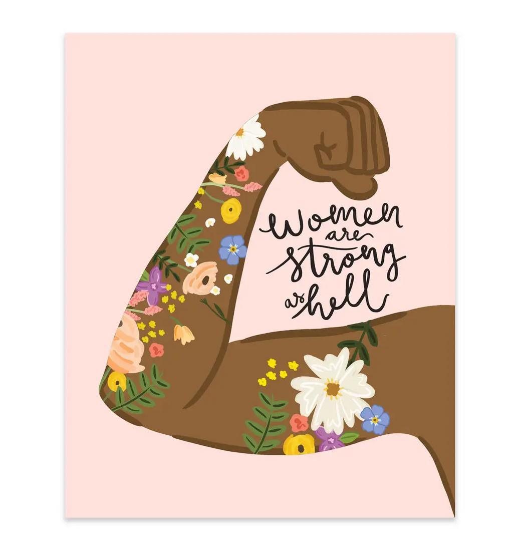 Bloomwolf Studio Women Are Strong As Hell-Art Print