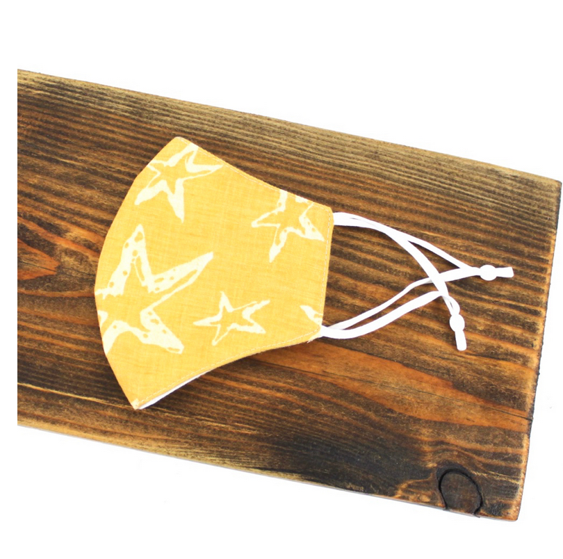 Pretty Persuasions STAR MASK (ADJ STRAPS) - Yellow