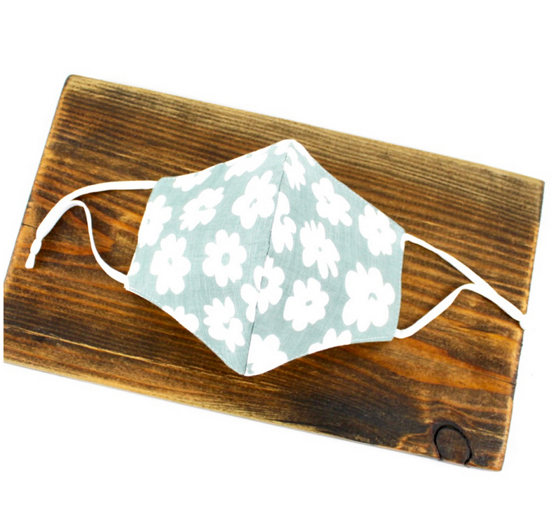 Pretty Persuasions DAISY REUSABLE MASK (ADJUSTABLE STRAPS) - Grn