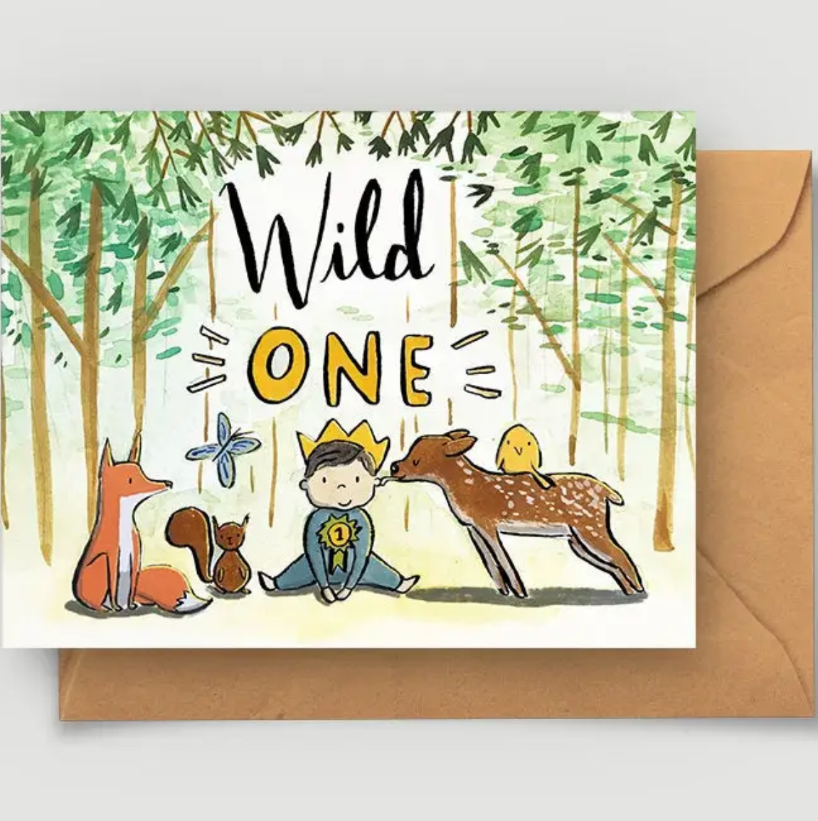 Abbie Paulhus Wild One First Birthday Card