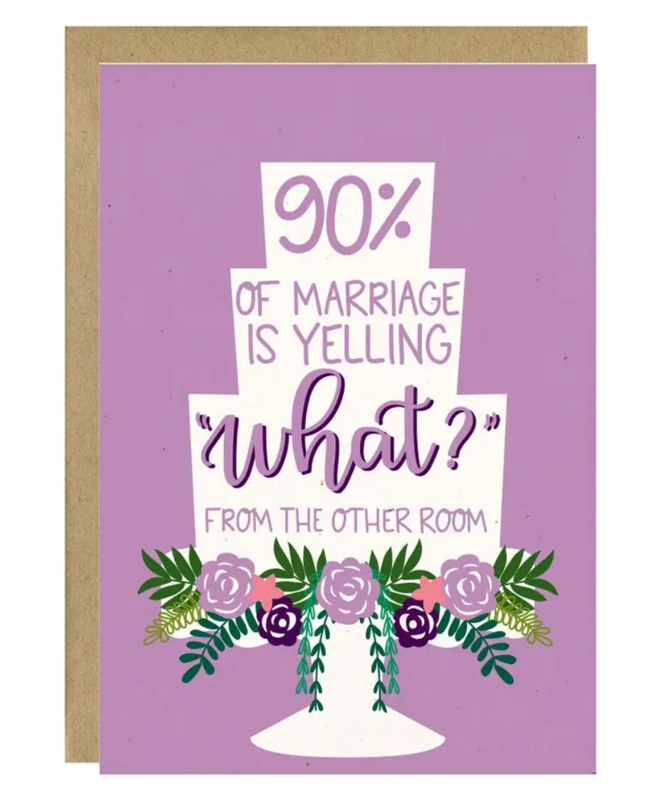Little Lovelies Studio 90% of Marriage Wedding Card