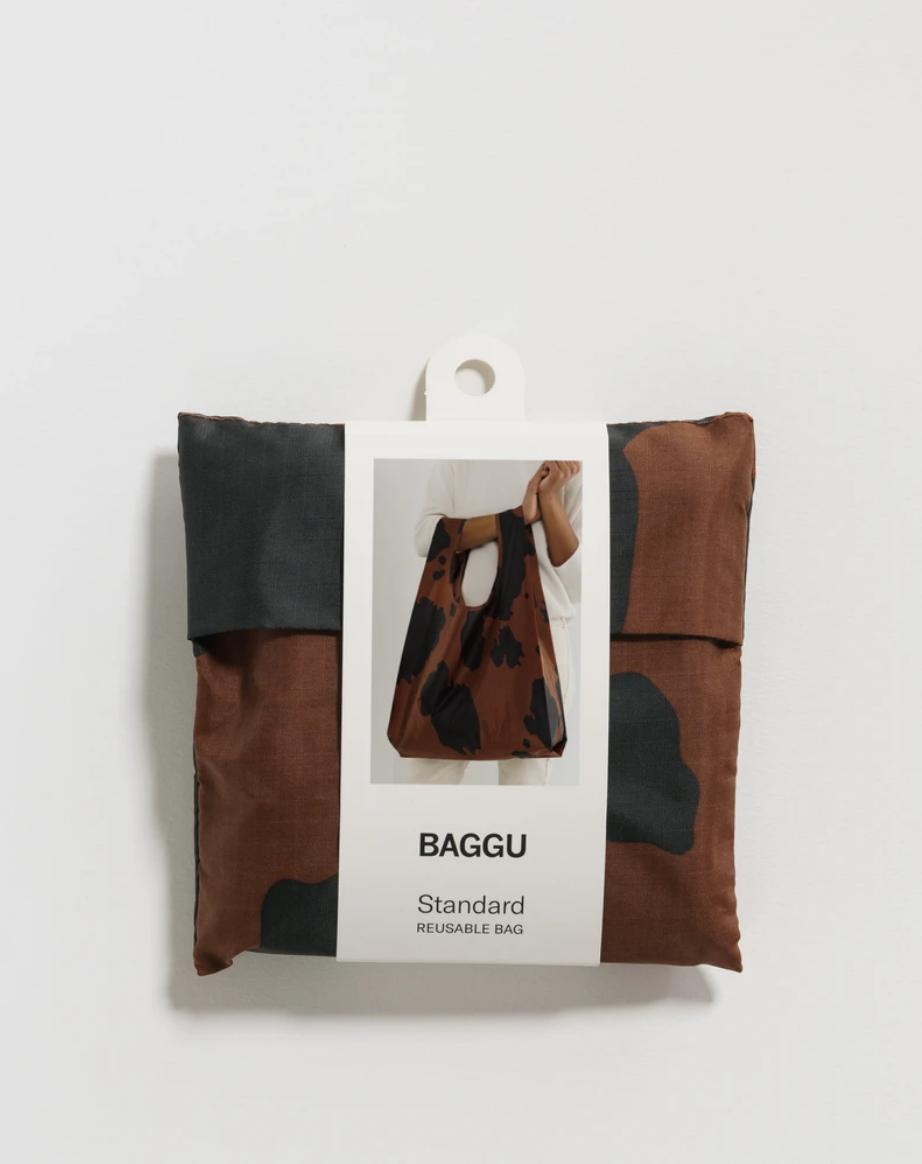 Baggu Standard Baggu - Black and Brown Cow