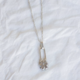 Yam Flower Pins Necklace-Silver