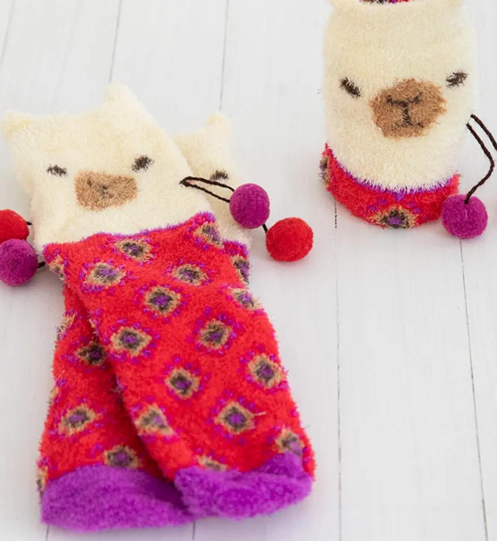 Natural Life Llama Cozy Sock