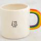 Natural Life I'll Just Be Happy Rainbow Mug