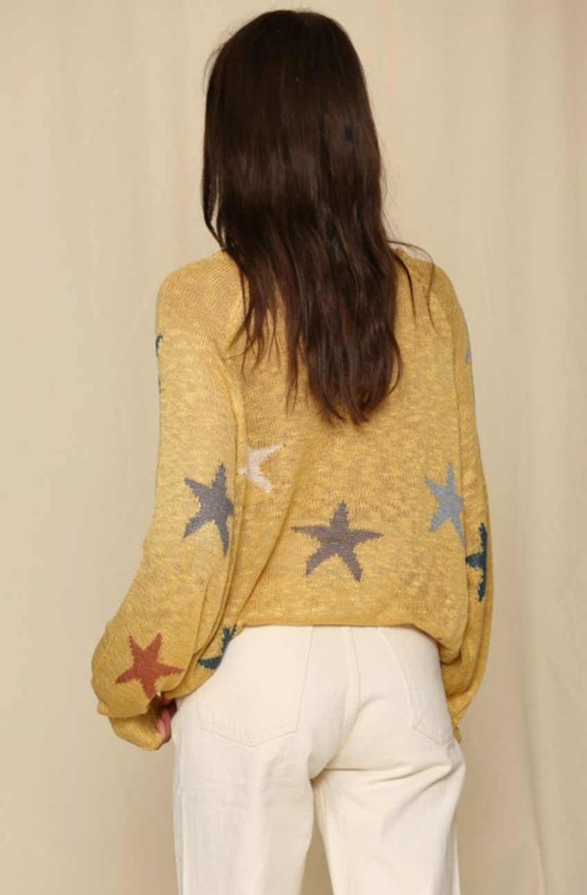 By Together Star Sweater - Mustard