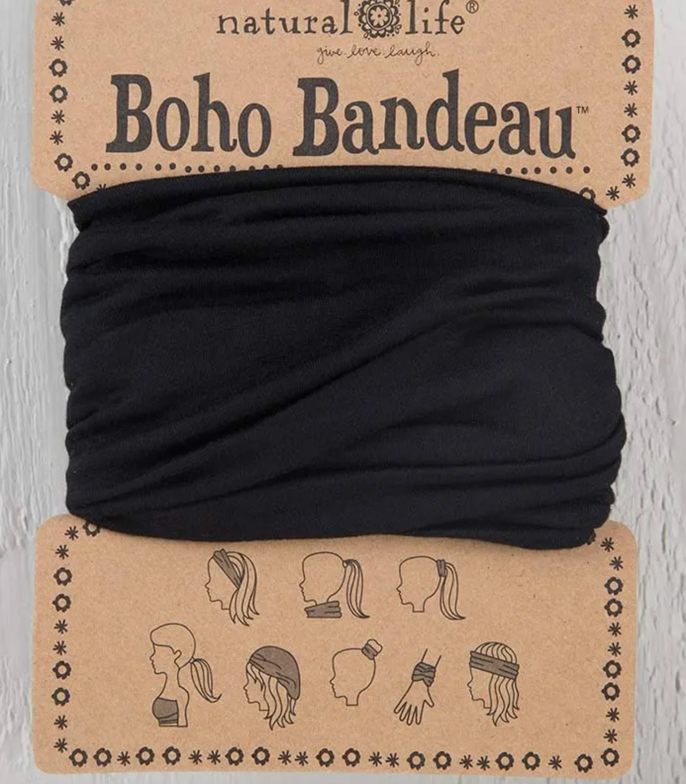 Natural Life Boho Bandeau - Black