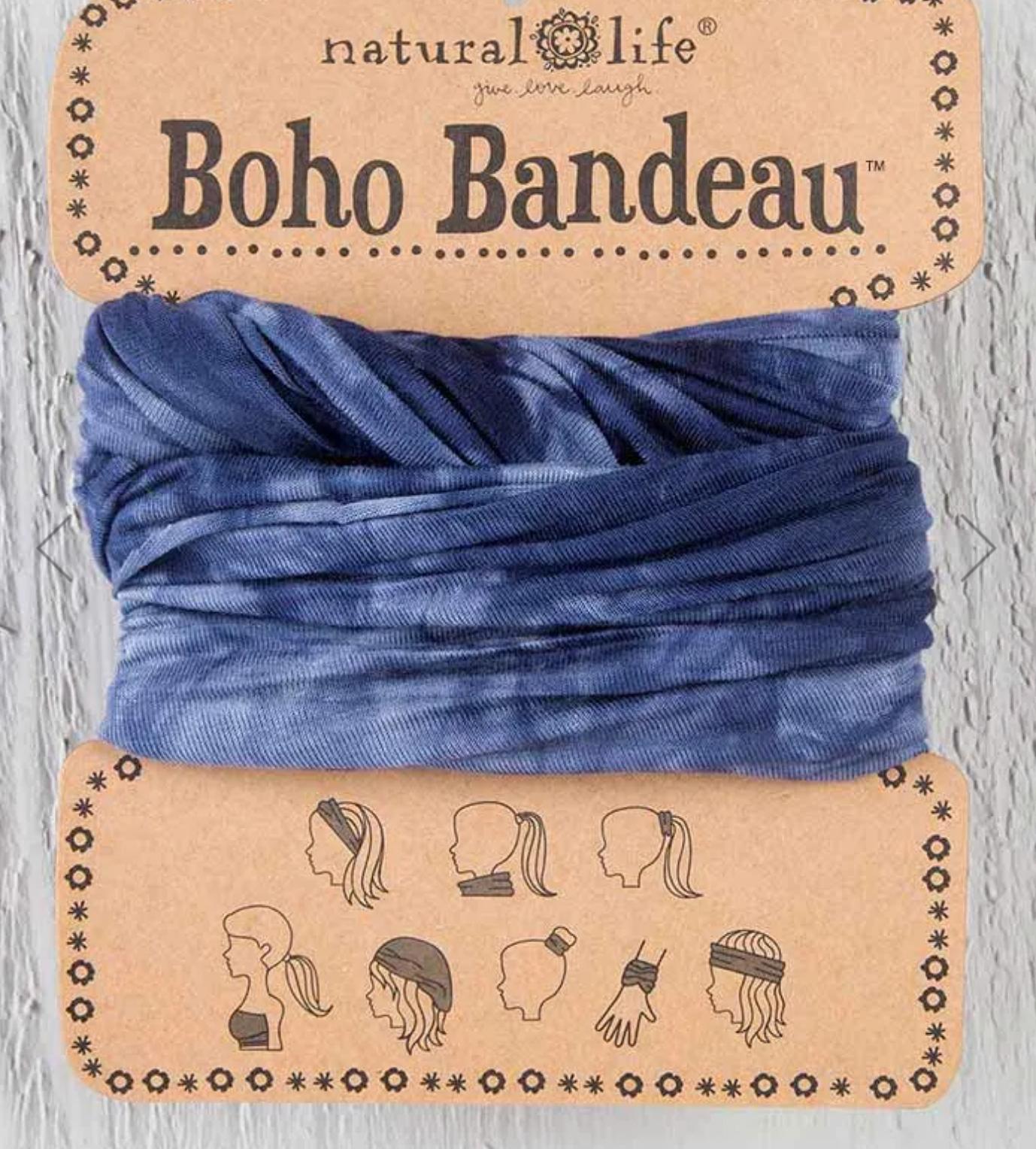 Natural Life Boho Bandeau - Navy/White Tie Dye