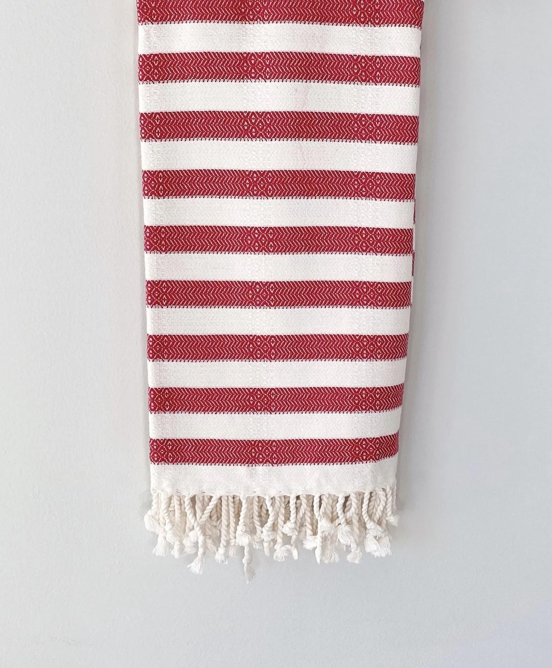 Beach House Towels Berlin Turkish Towel-Red