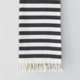 Beach House Towels Parma Turkish Towel-Black