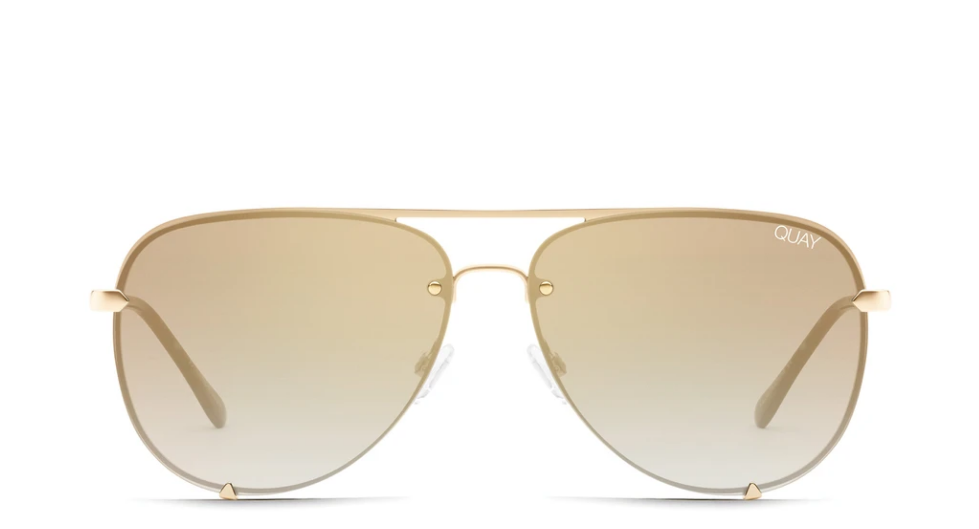 Quay Quay High Key Rimless - Gold / Brwn