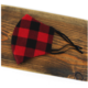 Pretty Persuasions PLAID REUSABLE MASK (ADJUSTABLE STRAPS)-BLK/RD