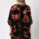 By Together Velvet Burnout Mini Dress - Black/Rose