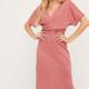 Lush Phoebe VNeck Wrap-Coral