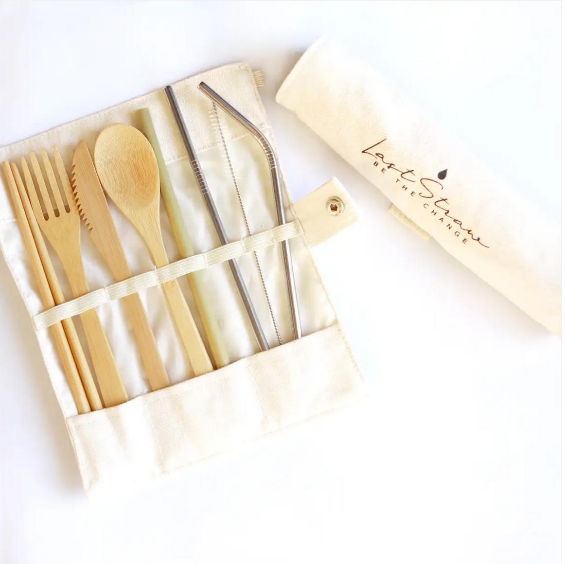 Last Straw Eco Bamboo/Stainless Utensil Straw Set