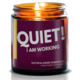 NaturalAnnie Essentials QUIET! I Am Working 4oz Soy Candle-LAVENDER