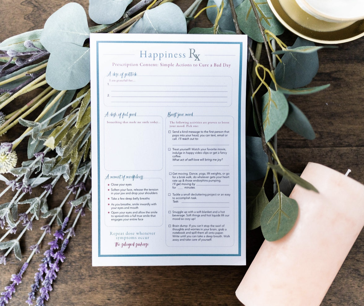 The Salvaged Sawhorse Happiness Rx Planner