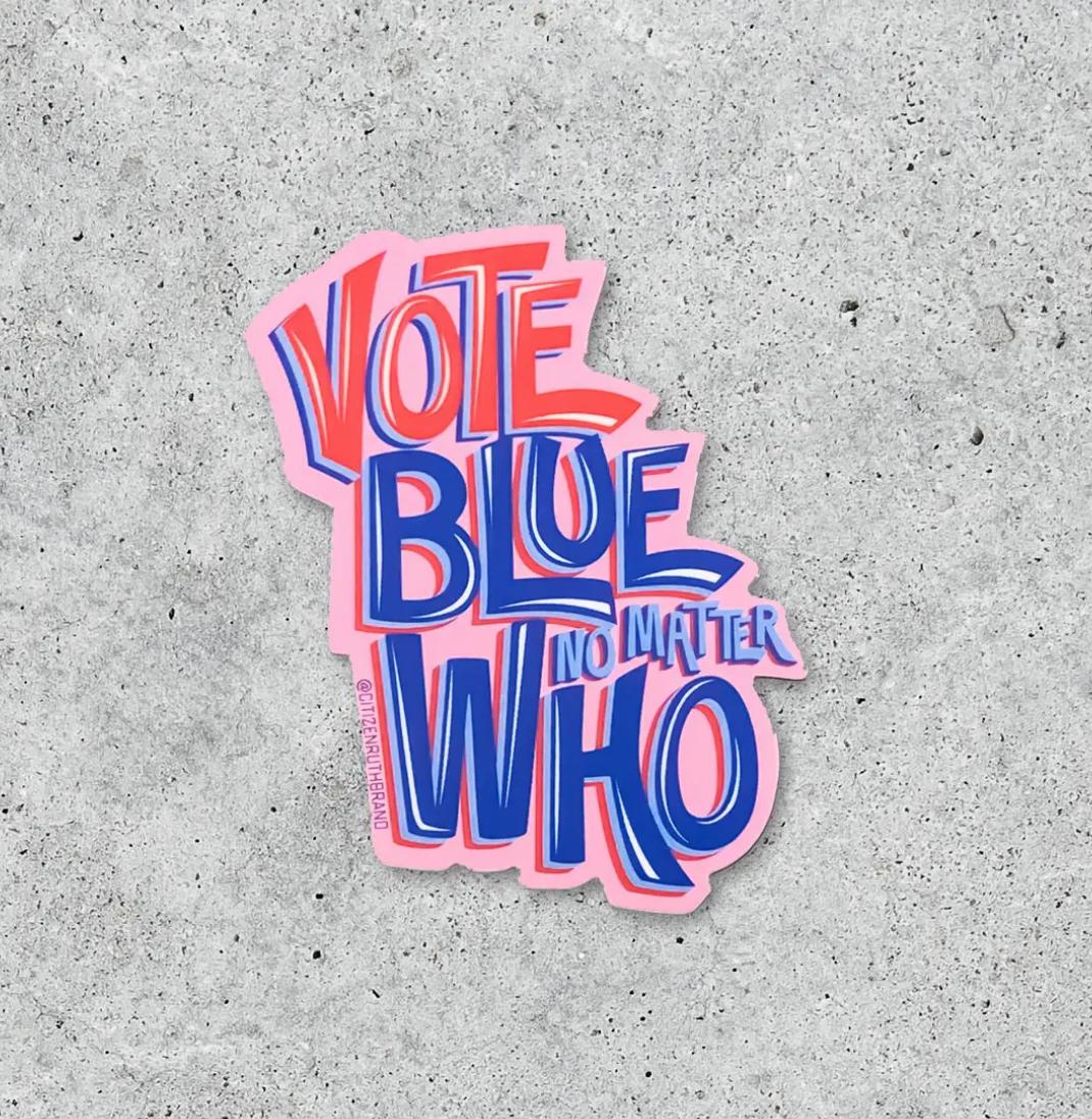 Citizen Ruth Vote Blue No Matter Who Sticker
