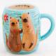 Natural Life Mug - Folk Art Otter