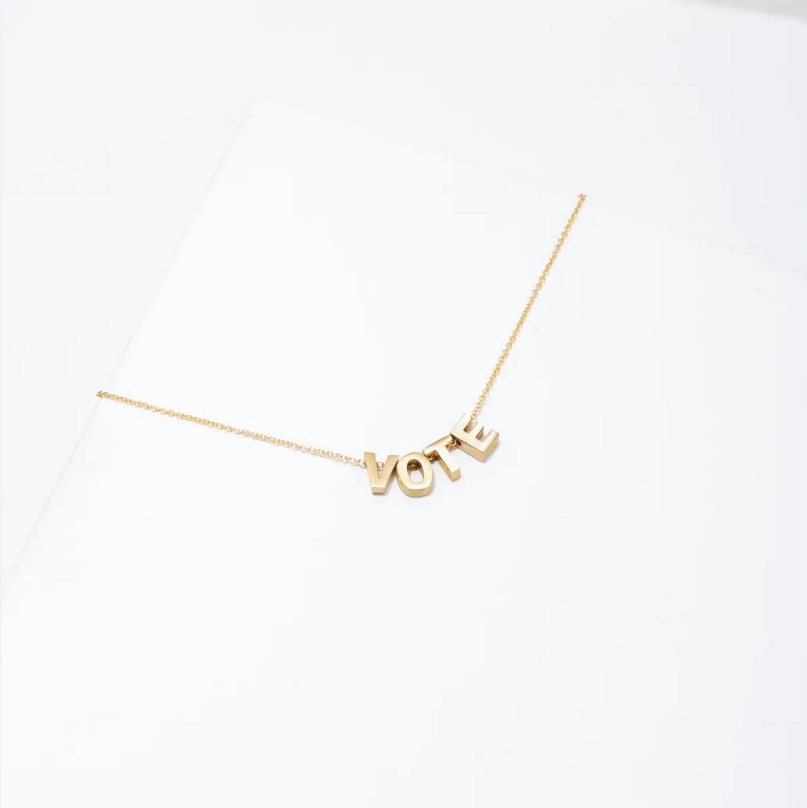 Larissa Loden VOTE Necklace- Gold