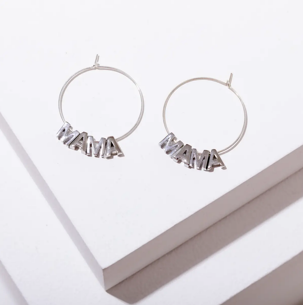 Larissa Loden MAMA Earrings-Silver