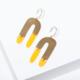 Larissa Loden Shea Earrings-Yellow
