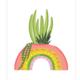 Bloomwolf Studio Plant Rainbow Art Print
