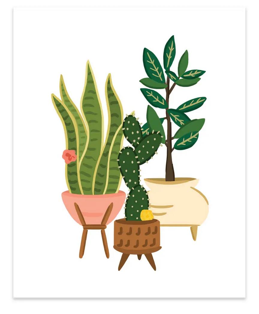 Bloomwolf Studio Plant Trio Art Print