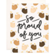 Bloomwolf Studio Clapping Proud Greeting Card