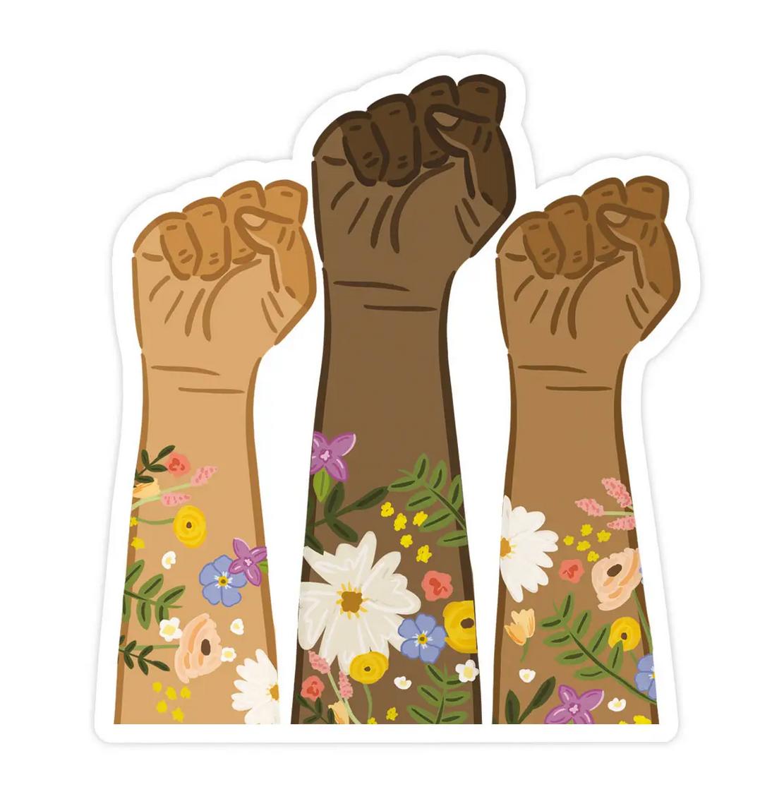 Bloomwolf Studio BLM Fists Sticker