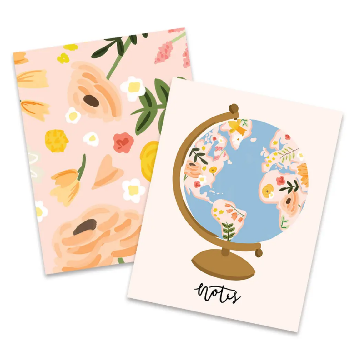 Bloomwolf Studio Floral Globe Pocket Notebook Set